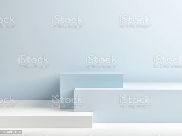 Podium in abstract blue minimalism composition picture id1049530612?b=1&k=6&m=1049530612&s=612x612&h=wpse0napb50exxqggrm7 imunwjgjtzzg hyp2rykky=