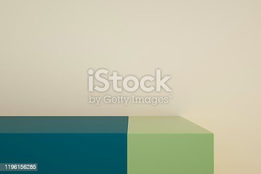 1049530612 istock photo Podium in abstract minimalism composition 1196156285