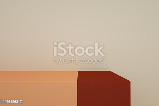 1049530612 istock photo Podium in abstract minimalism composition 1196156317