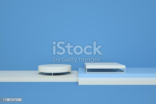 1049530612 istock photo Podium in abstract minimalism composition 1196157036