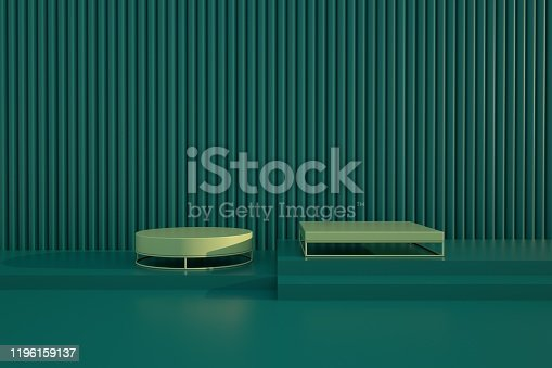 1049530612 istock photo Podium in abstract minimalism composition 1196159137