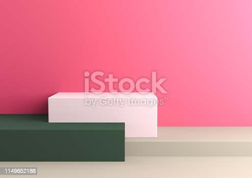 1049530612 istock photo Podium in abstract Naturalist palette ranges composition, Minimal concept, 3d render 1149652188