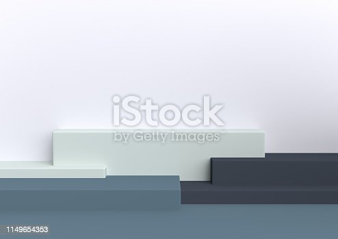 1049530612 istock photo Podium in abstract Naturalist palette ranges composition, Minimal concept, 3d render 1149654353
