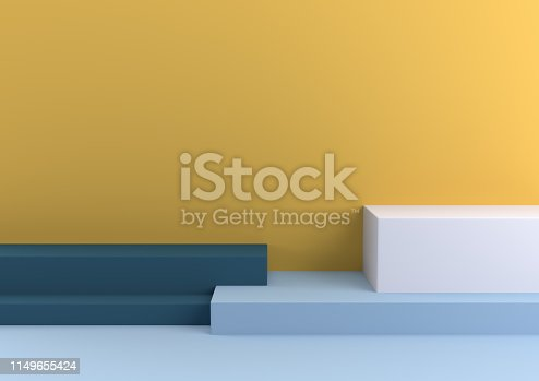1049530612 istock photo Podium in abstract Naturalist palette ranges composition, Minimal concept, 3d render 1149655424