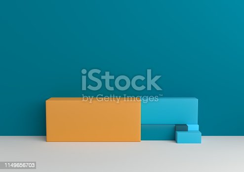 1049530612 istock photo Podium in abstract Naturalist palette ranges composition, Minimal concept, 3d render 1149656703