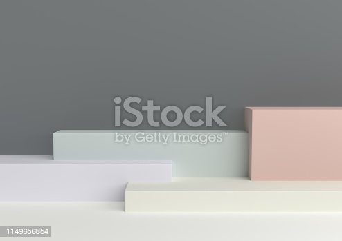 istock Podium in abstract Naturalist palette ranges composition, Minimal concept, 3d render 1149656854