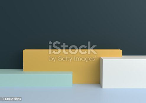 1049530612 istock photo Podium in abstract Naturalist palette ranges composition, Minimal concept, 3d render 1149657323