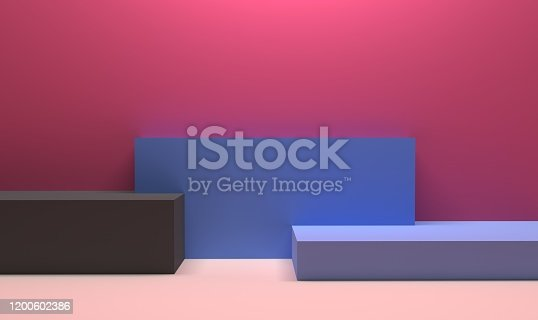 1049530612 istock photo Podium in abstract Naturalist palette ranges composition, Minimal concept, 3d render 1200602386