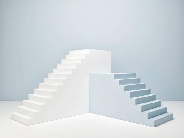 Podium im abstrakten Raum, blauen Raum – Foto