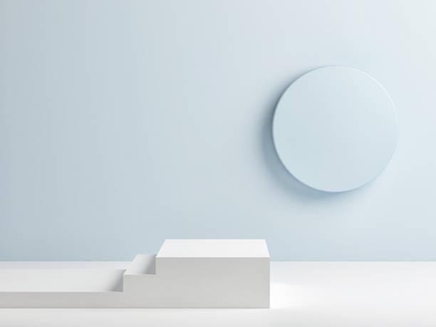 Podium im abstrakten Raum, innen – Foto