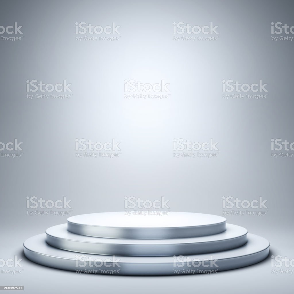 Podium stock photo