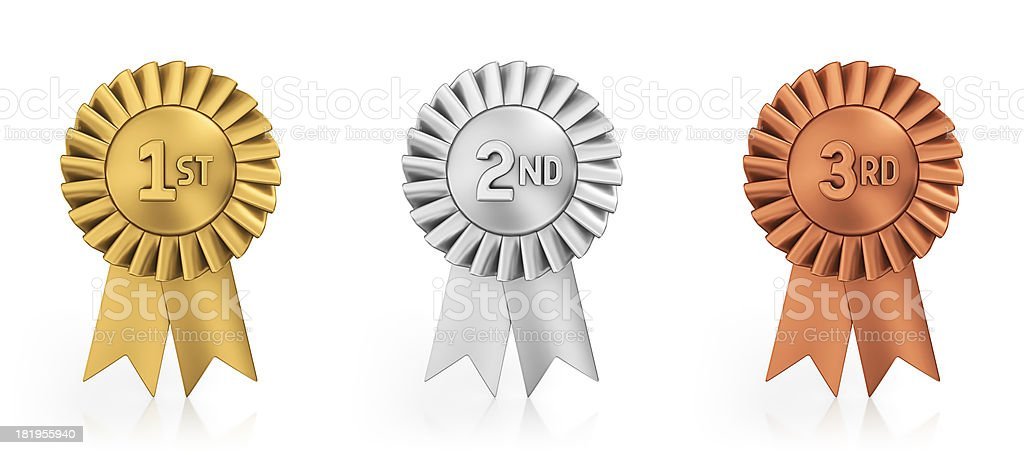 podium ribbons royalty-free stock photo