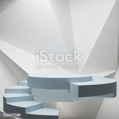 istock Podium with hipster abstract background composition 1054477206