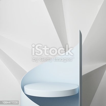 istock Podium with hipster abstract background composition 1054477220