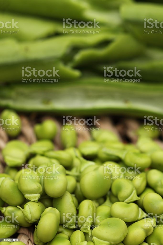 Pods and beans royalty-free stock photo