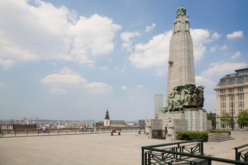 Poelaert Square In Brussels Stock Photo - Download Image Now