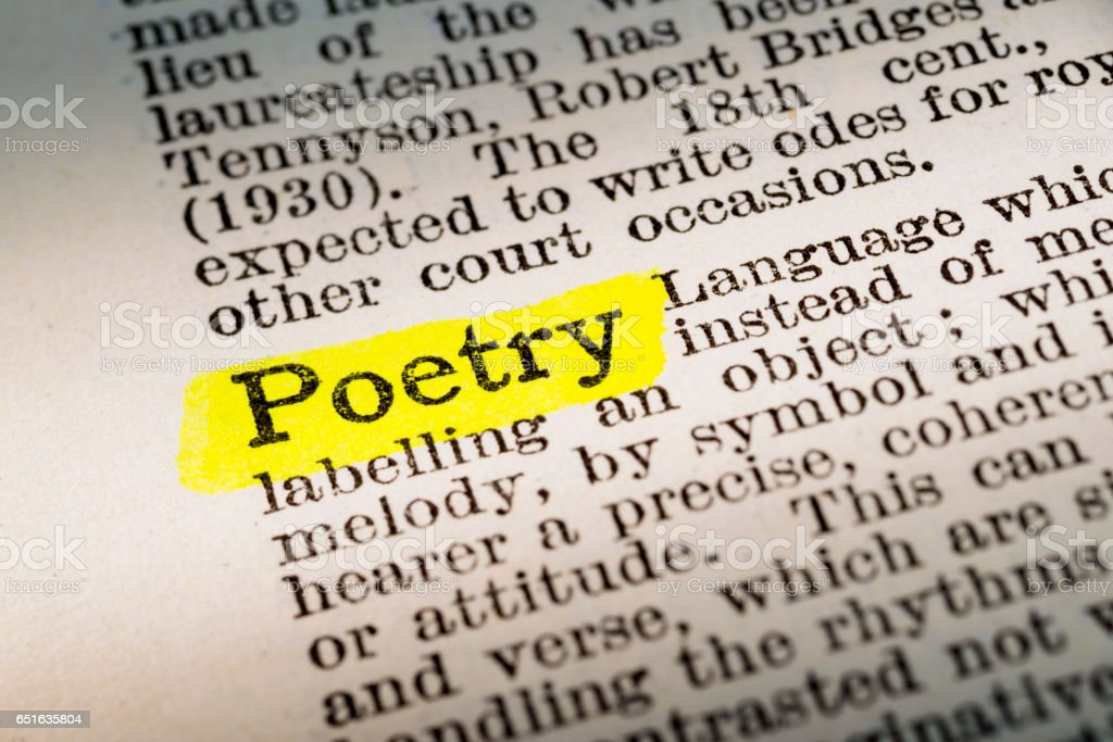 Poetry Dictionary Definition Highlighted Stock Photo More Pictures