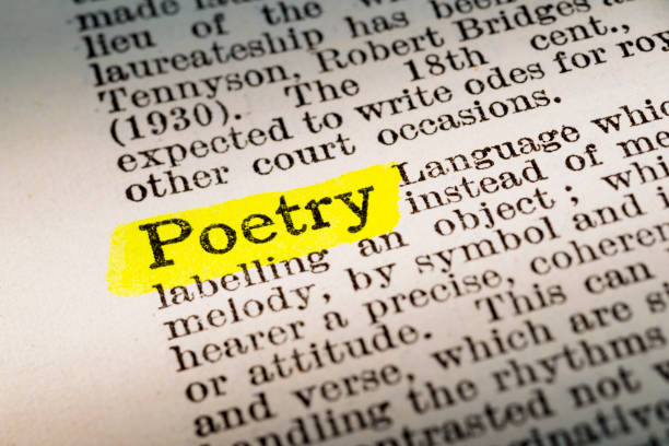 Poetry - dictionary definition highlighted - foto stock