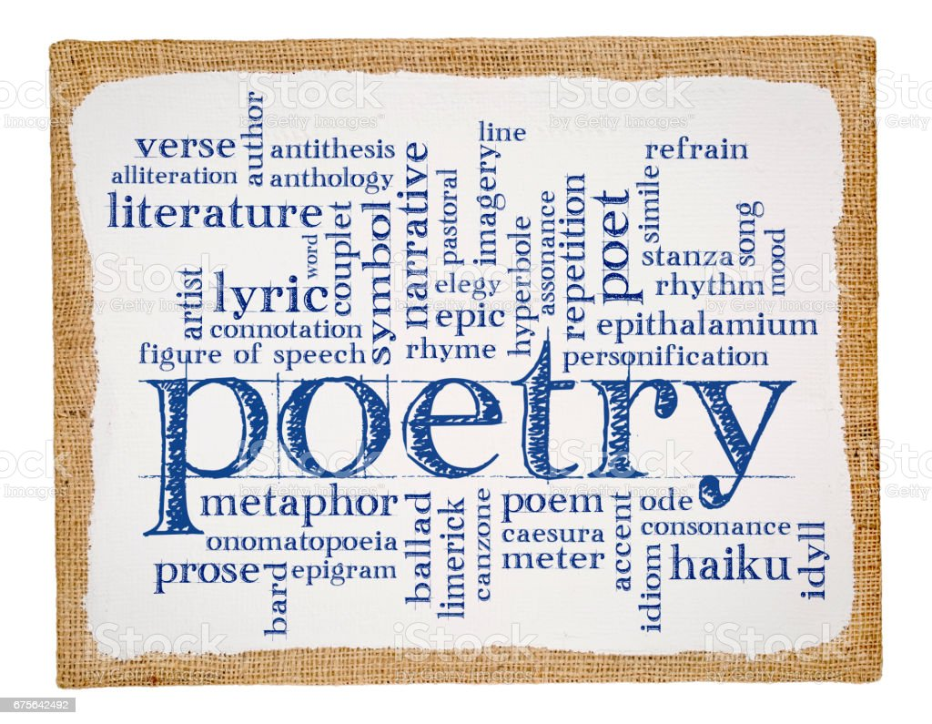 Poetry Word Cloud On Art Canvas Stock Photo & More Pictures of Art ...