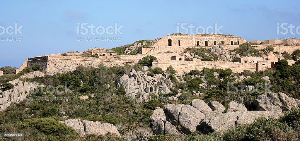 Poggio Rasu fort. Caprera. La Maddalena archipelago (Sardinia - Italy) stock photo