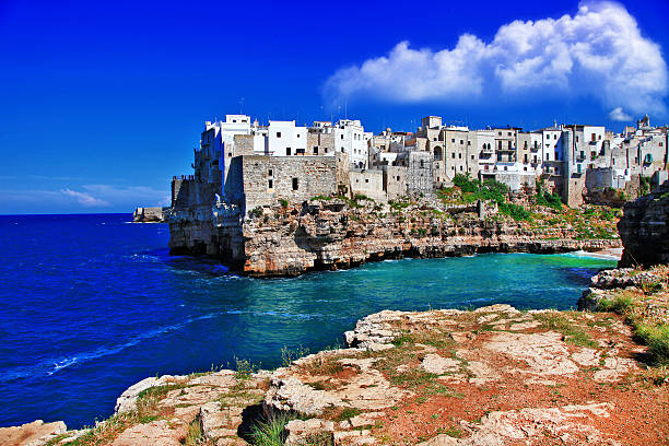 Poglianano al mare, Puglia stock photo