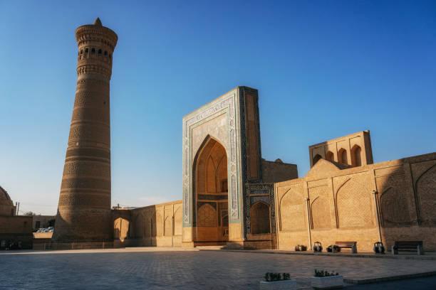Poi Kalan located around the Kalan minaret in Bukhara, Uzbekistan stock photo