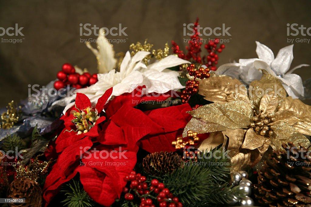 Poinsettia Arrangement royalty-free stock photo