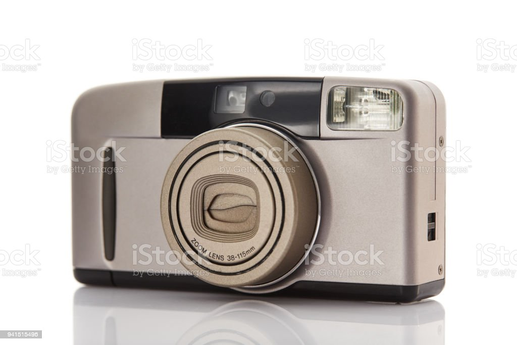 Point and Shoot Camera on white background