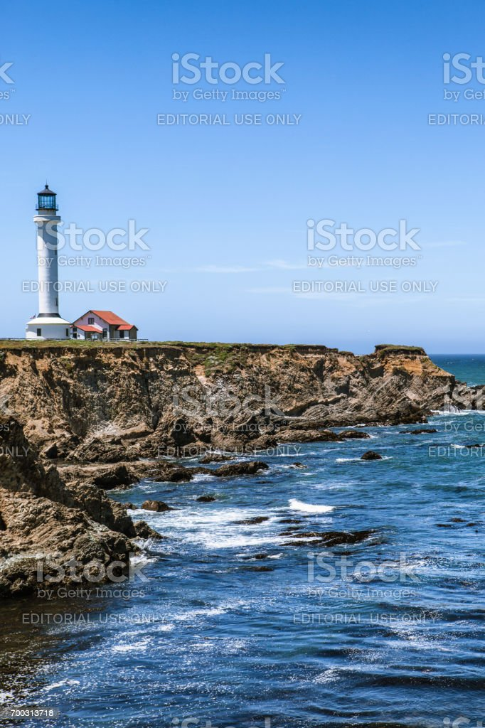 Point Arena Lighthouse and Museum stock photo