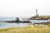 Point Arena Lighthouse in Mendocino County, California, United States.