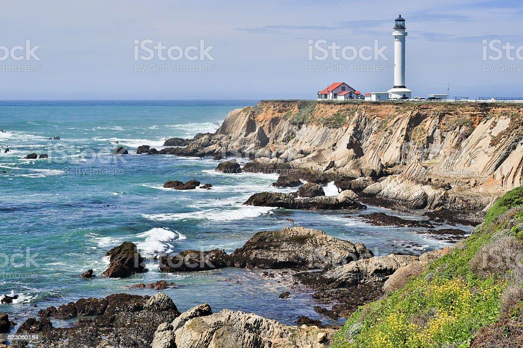 Point Arena Lighthouse, Mendocino County, California stock photo