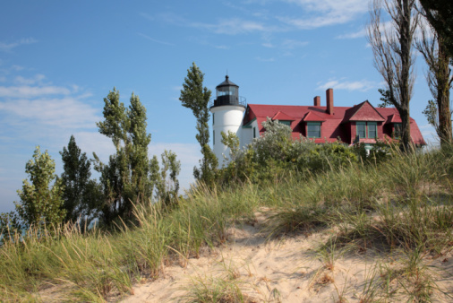 Point Betsie Lighthouse and Sand Dunes