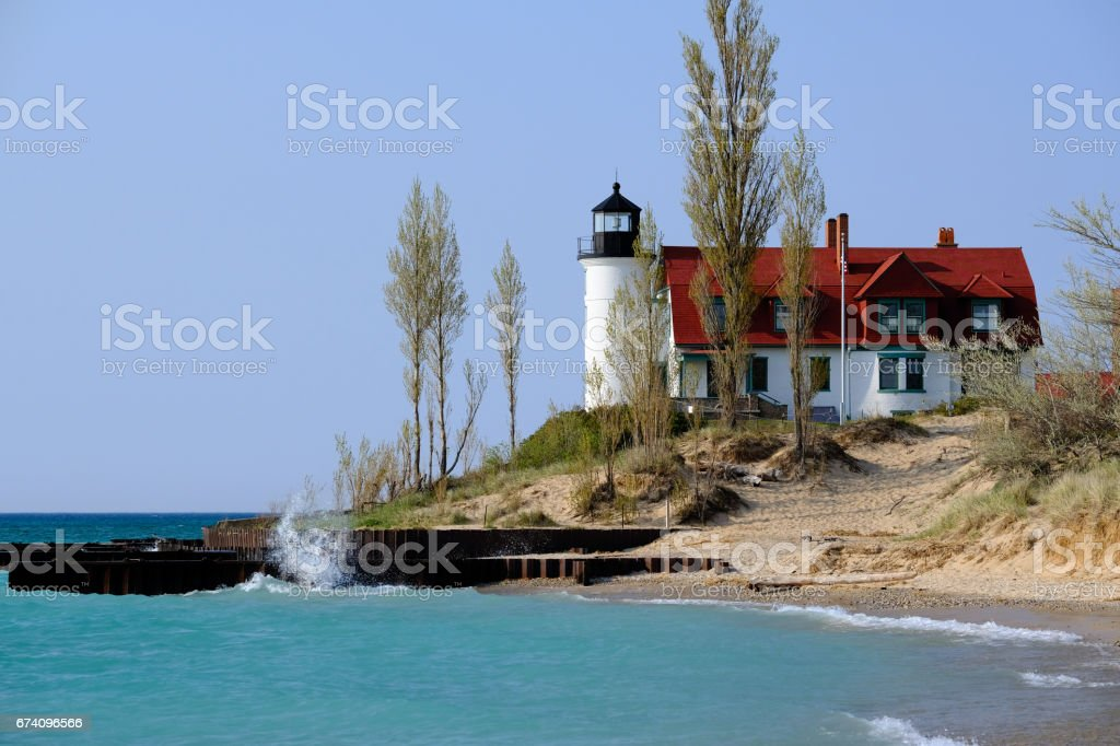 Point Betsie Lighthouse, built in 1858 royalty-free stock photo