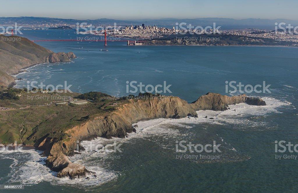 Point Bonita, Golden Gate, and San Francisco stock photo