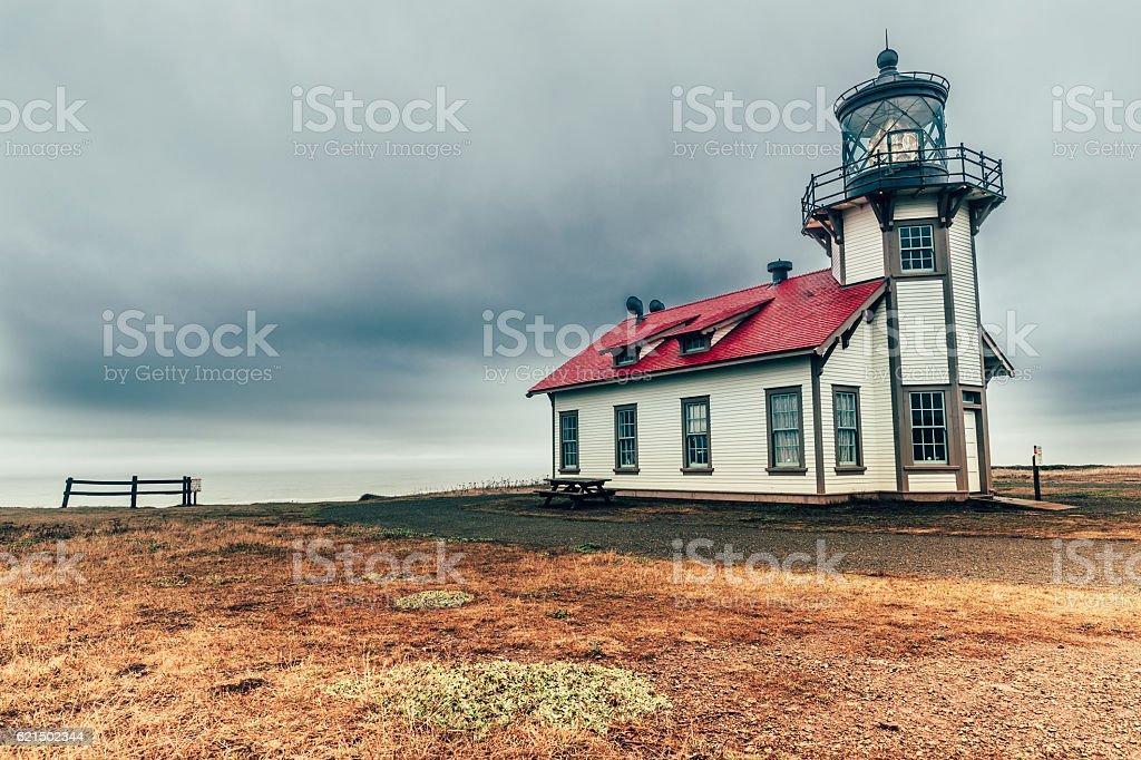 Faro Cabrillo Point, California foto stock royalty-free