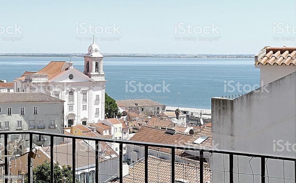 Point de vue sur Lisbonne stock photo
