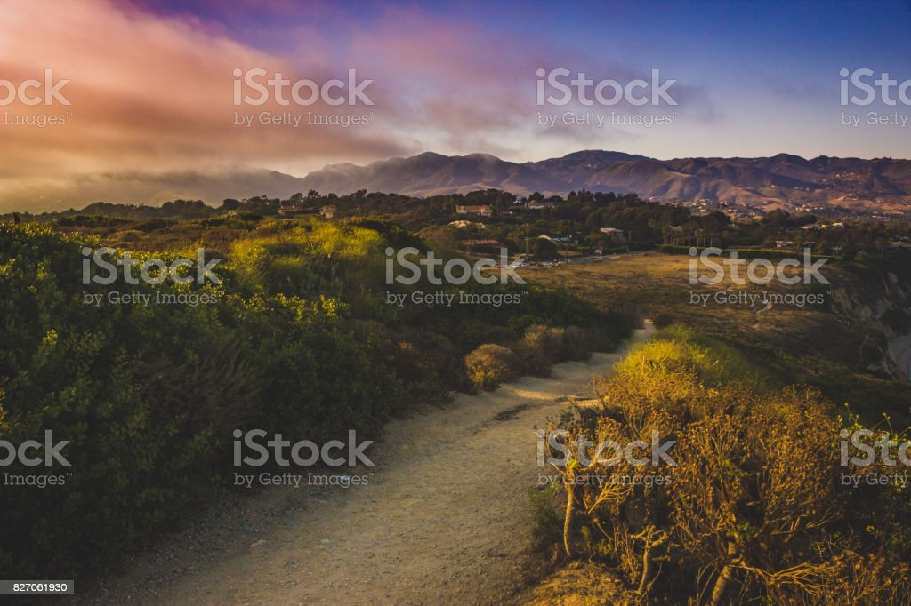 Point Dume Trail stock photo