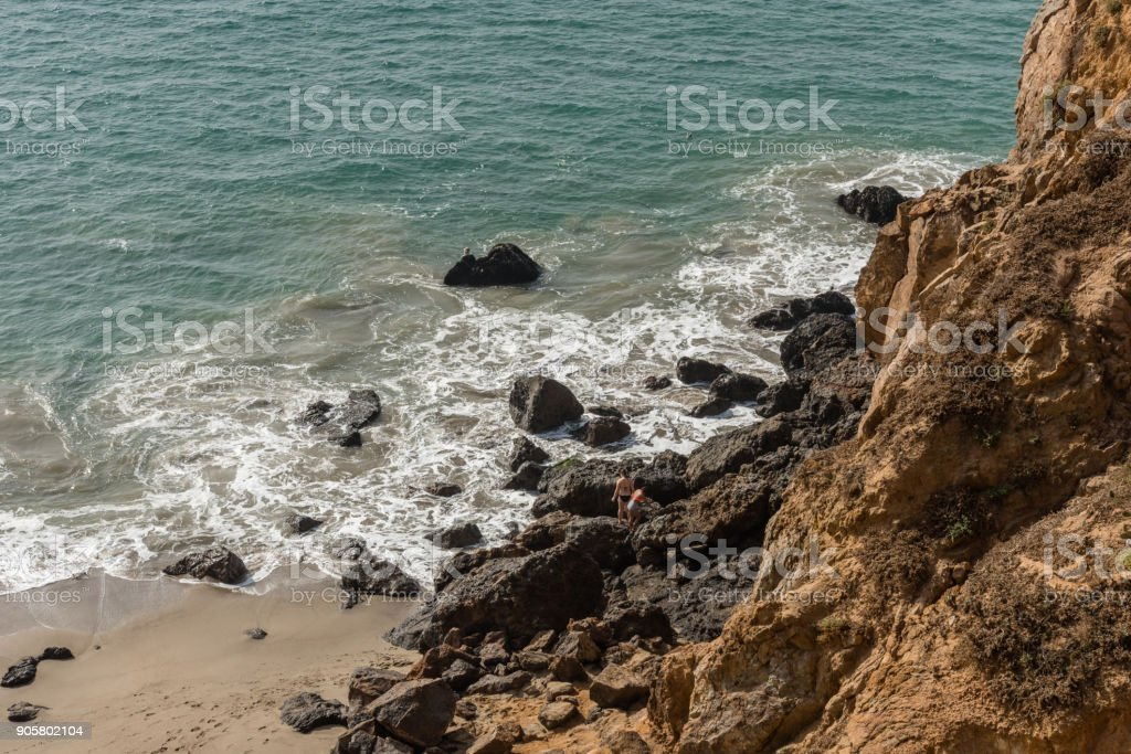Point Dume vista in winter, Malibu, California stock photo