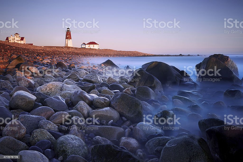 Point Judith Light stock photo