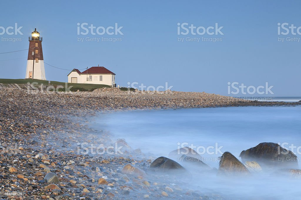 Point Judith lighthouse royalty-free stock photo