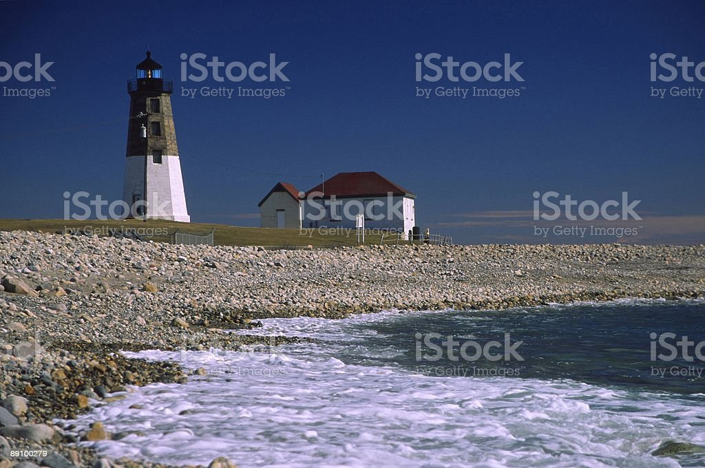 point judith lighthouse stock photo