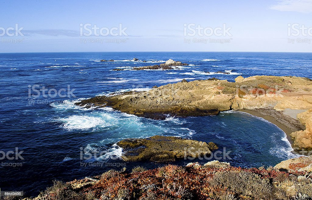 Point Lobos Coastline - California royalty-free stock photo