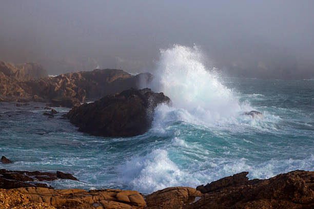 Point Lobos Surf stock photo