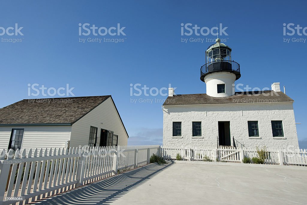 Point Loma lighthouse stock photo