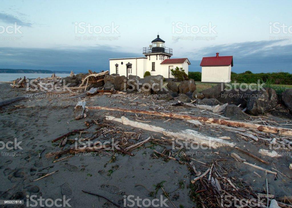Point no Point Lighthouse zbiór zdjęć royalty-free