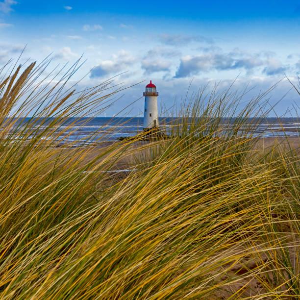 Point of Ayr Lighthouse stock photo