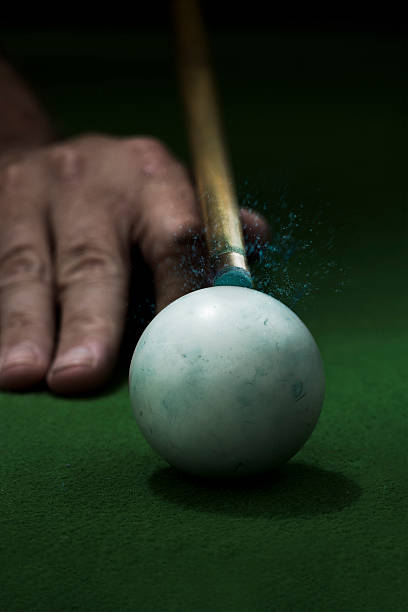point of impact - cue ball stock pictures, royalty-free photos & images