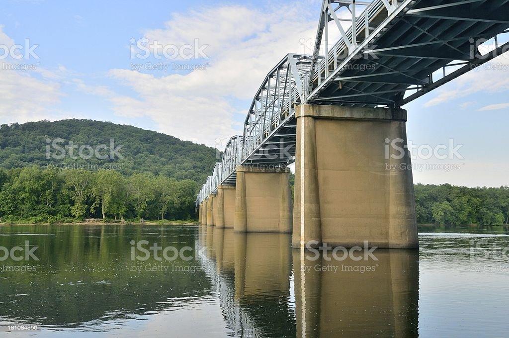 Point of Rocks Ptotmac River Bridge stock photo