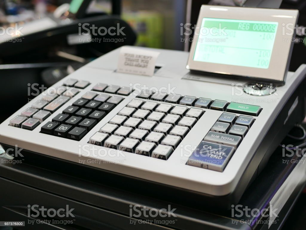 Point Of Sale System For Store Management Stock Photo - Download Image Now