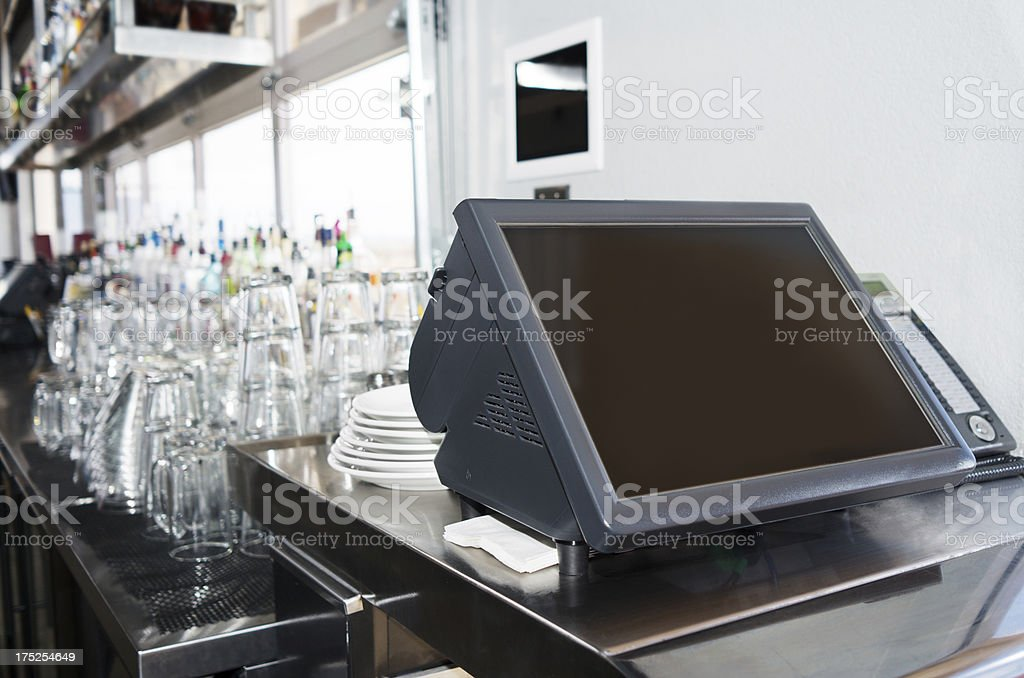 Point of sale system royalty-free stock photo